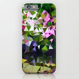 Abstract Water Lily Pond After Monet Low Poly Geometric Triangles  iPhone Case