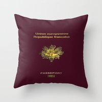 french Throw Pillows featuring French by Dano77
