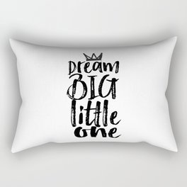 kids room decor,dream big little one,motivational poster,kids gift,nursery decor,bedroom decor Rectangular Pillow