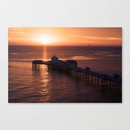 LLandudno pier at sunrise. Canvas Print