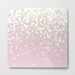 BLUSH GLITTER SPARKLE LIGHTS Metal Print