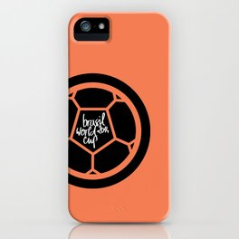 Brazil World Cup 2014 - Poster n°2 iPhone Case