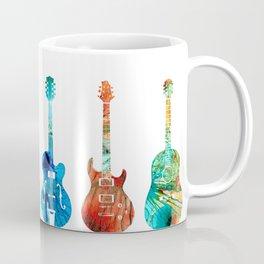 Abstract Guitars by Sharon Cummings Coffee Mug