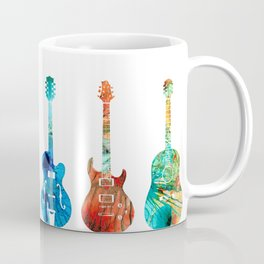 Abstract Guitars by Sharon Cummings Coffee Mug