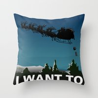 i want to believe Throw Pillows featuring I want to believe by Fresco Umbiatore