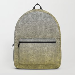 Silver and Gold Glitter Gradient Backpack