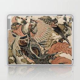 Hokusai, Aspara and the flute – musician manga, japan,hokusai,japanese,北斎,ミュージシャン Laptop & iPad Skin