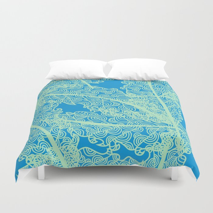 Welcome To The Sea Jungle Duvet Cover