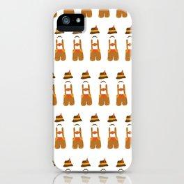 Oktoberfest guy on white iPhone Case