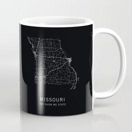 Missouri State Road Map Coffee Mug