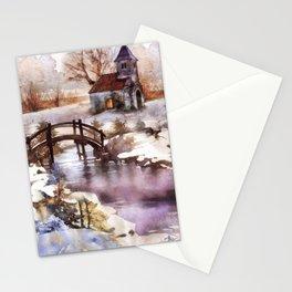 Winter Shelter Stationery Cards