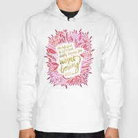 fitzgerald Hoodies featuring Zelda Fitzgerald – Pink on White by Cat Coquillette