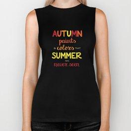 Autumn Paints Biker Tank
