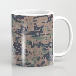 Marines Digital Camo Digicam Camouflage Military Uniform Pattern Coffee Mug