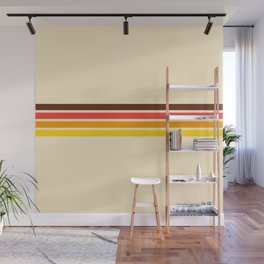 African Retro Stripes Wall Mural