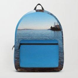Italian island, Borromeo islands, italian lakes, lake fine art, fisherman's island Backpack