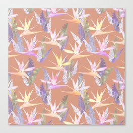 Birdie Tropical Blush Canvas Print
