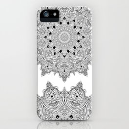 Stars and Stripes - Patriotic Mandala - Black and White - 'Merica! iPhone Case
