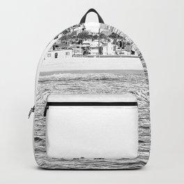 Vintage Newport Beach Print {4 of 4}   Photography Ocean Palm Trees B&W Tropical Summer Sky Backpack