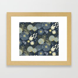 Wedding Season M+M Navy by Friztin Framed Art Print