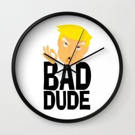 Bad Dude Wall Clock