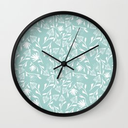 A Saunter on the Green Wall Clock