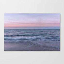 Pastel beach sunset Canvas Print