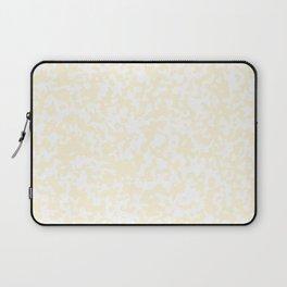 Small Spots - White and Cornsilk Yellow Laptop Sleeve