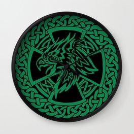 Celtic Hawk Wall Clock