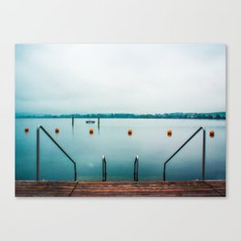 Cold Swim Canvas Print