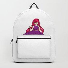 happy anime girl Goth Gothic Woman Female Present Backpack