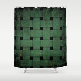 Green Weave Shower Curtain