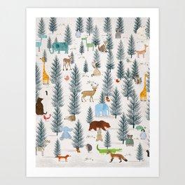 little nature woodland Art Print