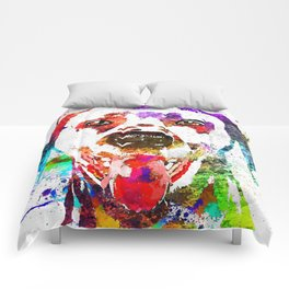 Dalmatian Grunge Comforters