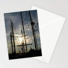 sailboat on the sunrise Stationery Cards