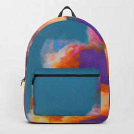 Colorful clouds in the sky Backpack