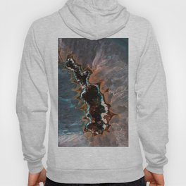 Earth treasures - Blue and orange agate Hoody