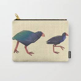 Takahē and Pukeko origami Carry-All Pouch
