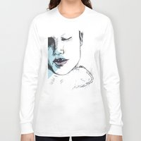 cuddle Long Sleeve T-shirts featuring cuddle by Gaspart