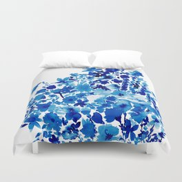 Blue Floral Duvet Cover
