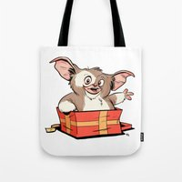 gizmo Tote Bags featuring Gizmo Gift by The Drawbridge