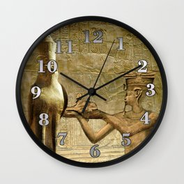 Horus and Pharaoh Wall Clock