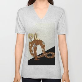 Art Deco 1920's Exotic Theatre Design Unisex V-Neck