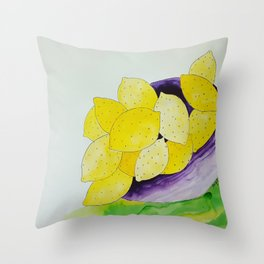 Lemon Bowl Throw Pillow