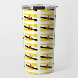 flag of brunei-jawi,borneo,bandar,malay,bruneian. Travel Mug
