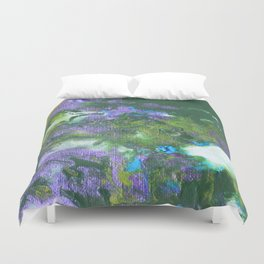 Abstract Wildflower Field Duvet Cover