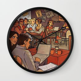 Clint's Coffeeshop Wall Clock