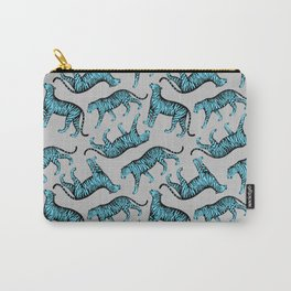 Tigers (Gray and Blue) Carry-All Pouch
