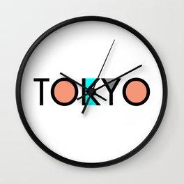 Tokyo Typo Wall Clock