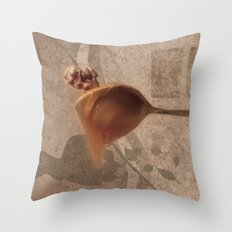 Nuts with honey Throw Pillow